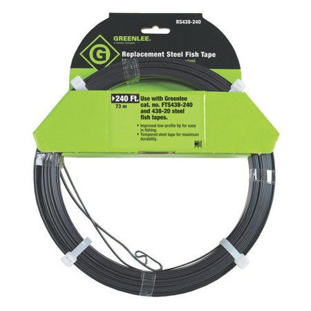 Greenlee rs438 240 240 ft replacement steel fish tape for Fish wire walmart