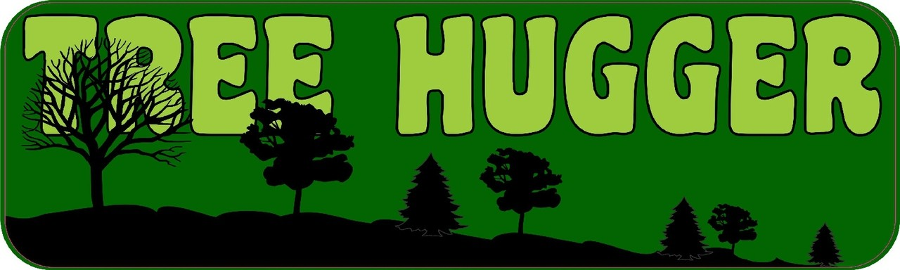 10 x 3 tree hugger vinyl bumper sticker vinyl car decal window stickers decals