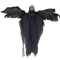 """Loftus Light Up Sound Moving Wings Reaper 36"""" Animated Prop, Black"""