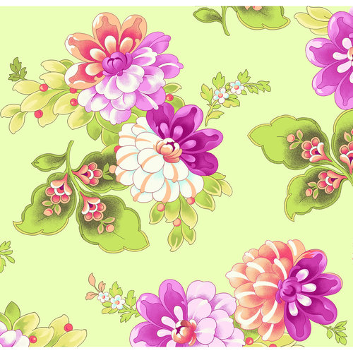 Large Floral Fabric