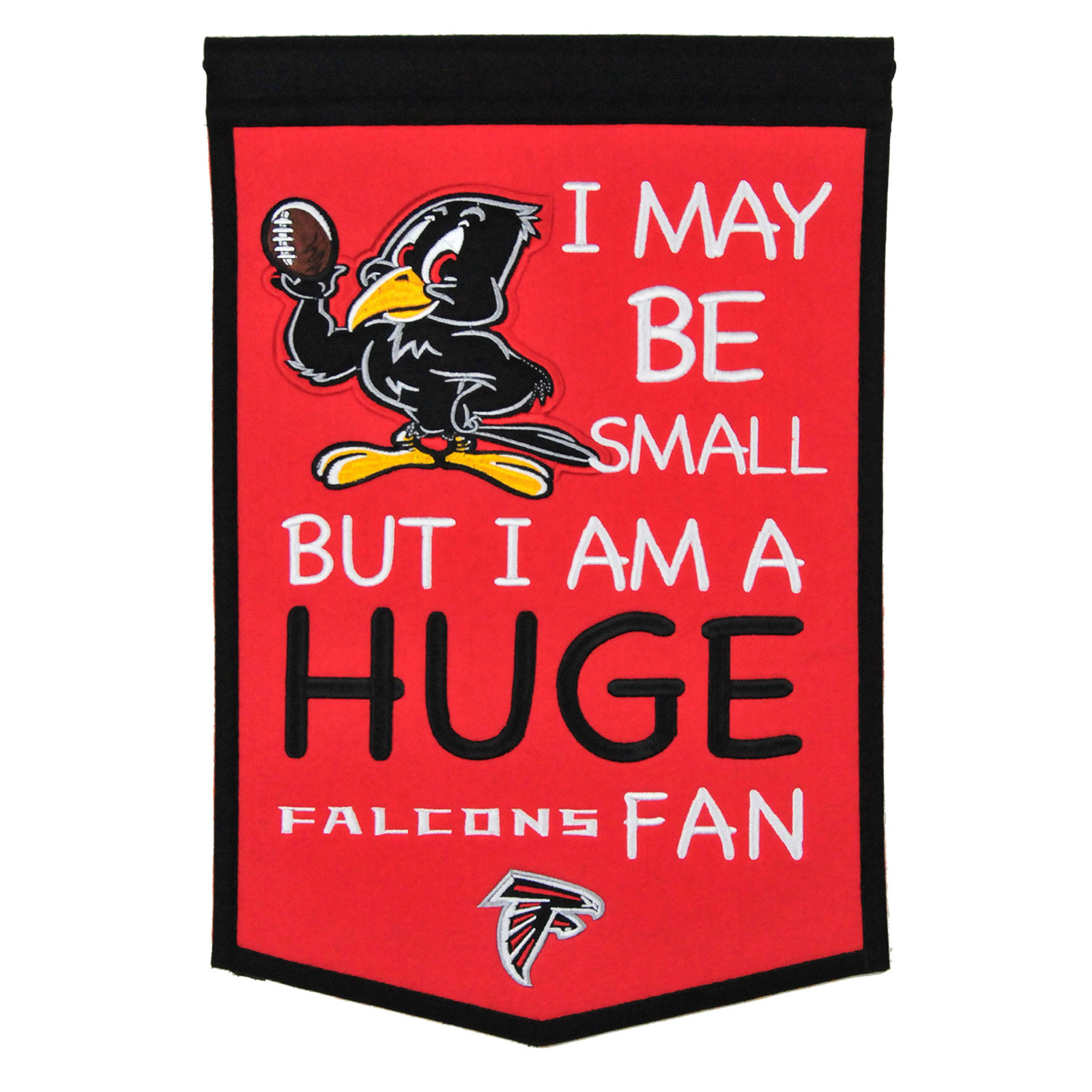 "Atlanta Falcons 12"" x 18"" Lil Fan Traditions Banner - No Size"