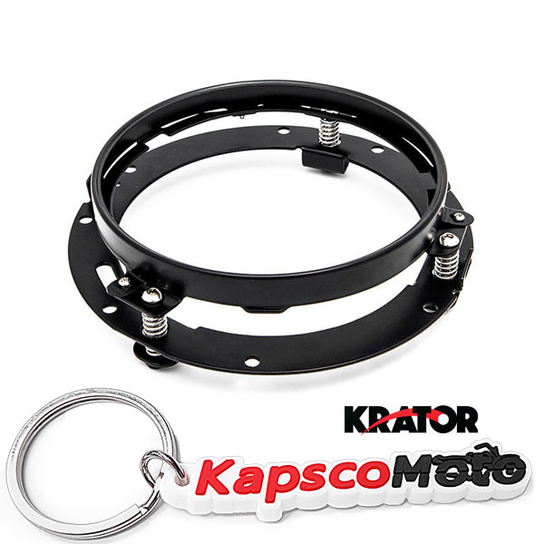Krator Black 7 LED Headlight Mounting Ring Trim Bracket for Harley Davidson//Jeeps