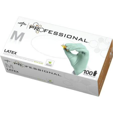 Medline, MIIPRO31792, Professional Latex Exam Gloves, 100 / Box,