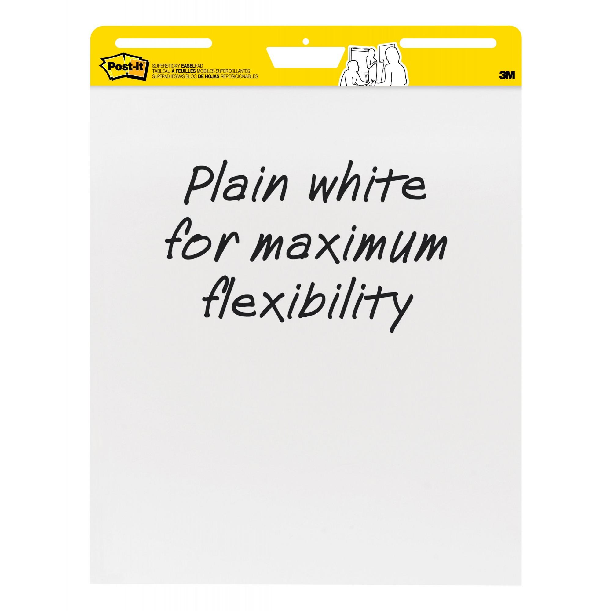 "Post-It Easel Pad, Plain White, Single Pad, 25"" x 30"" per Pad"