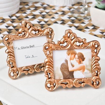 - 20 Rose Gold Baroque style frame favor