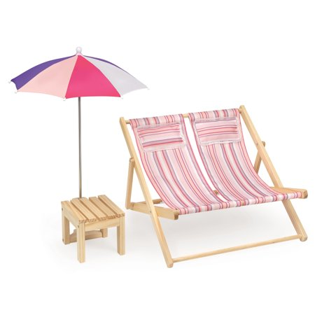 Stupendous Badger Basket Double Doll Beach Chair With Table And Home Interior And Landscaping Ologienasavecom