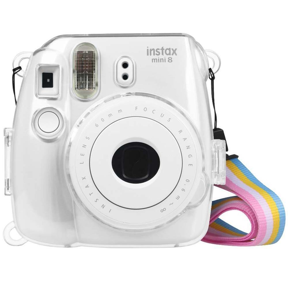 Fintie Fujifilm Instax Mini 8 Mini 8+ Mini 9 Camera Clear Case - Crystal Hard PVC Protective Case Cover