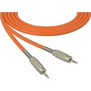 1Pc Sescom SC6MZMZOE Audio Cable Canare Star-Quad 3.5mm TRS Balanced Male to 3.5mm TRS Balanced Male Orange - 6 Foot