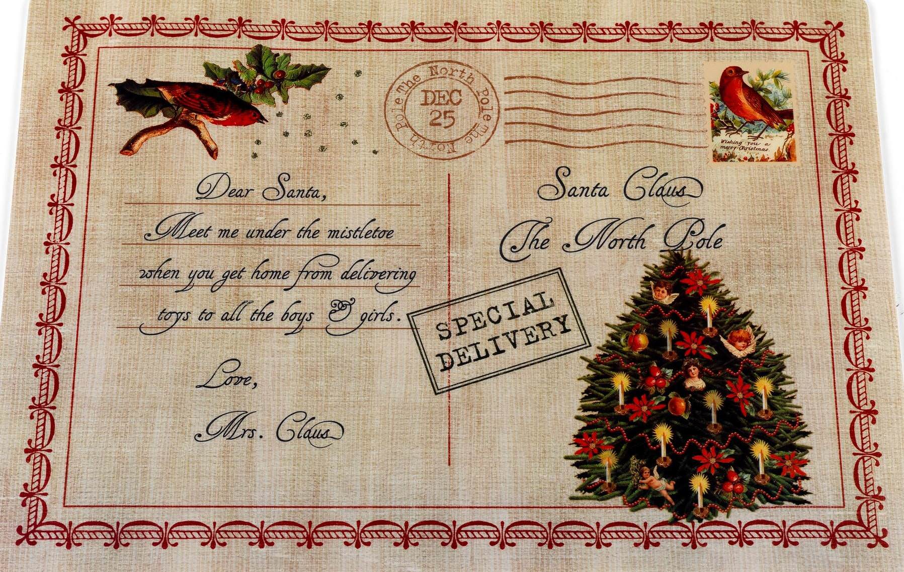 Royal Bath Letter To Santa Holiday Place Mat Set Of 4 Walmart Com Walmart Com