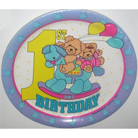 - Baby's First Birthday Plate Pack - Rocking Horse & Bears (The Fraser Collection) - 8 Plates