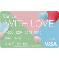 Vanilla Visa With Love eGift Cards (email delivery)