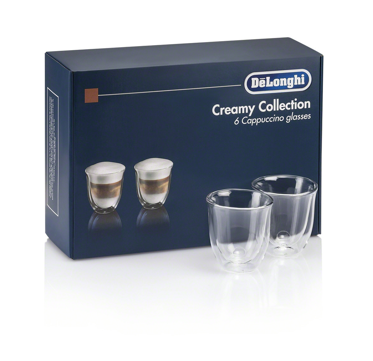 De'Longhi Gift Set 6 Cappuccino Double Wall Thermal Glasses