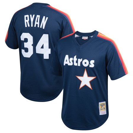 Nolan Ryan Houston Astros Mitchell & Ness Youth Cooperstown Collection Mesh Batting Practice Jersey - Navy ()