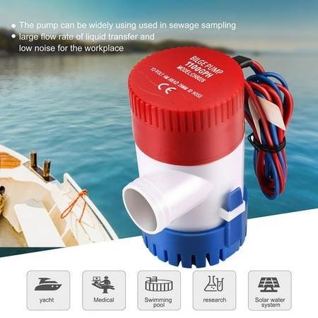 12V Vacuum Water Pump Submersible Marine Boat Bilge Pump 1100GPH Water Pump - image 2 de 5