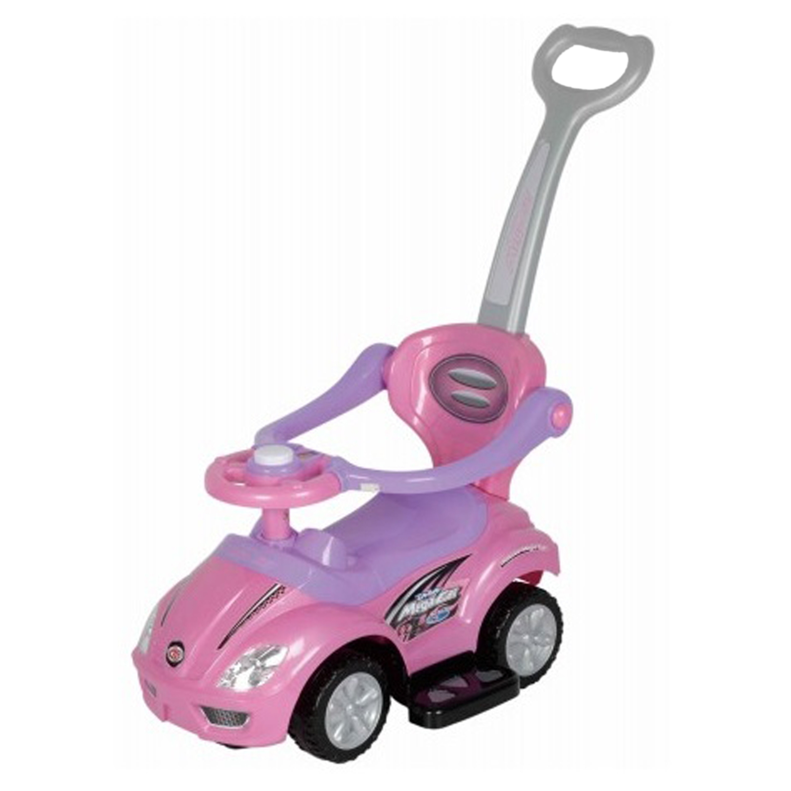 3-in-1 Stroller Kids Ride On Push Car - Pink
