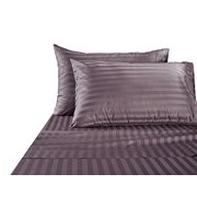 Hotel Collection Luxury Egyptian Cotton Bed Sheet 1000 Thread count 100% Ultra Soft 4 Piece Stripe Sheet Set, King - Lilac