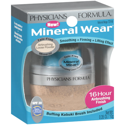Physicians Formula Mineral Wear Airbrushing Loose Powder SPF 30, 7316 Natural Beige, 0.35 oz