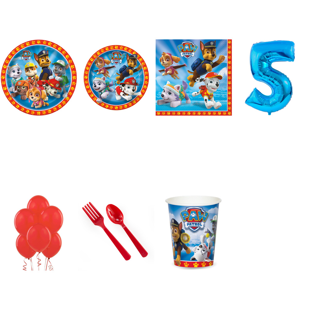 PAW PATROL PARTY SUPPLIES PARTY PACK FOR 32 WITH BLUE #4 BALLOON