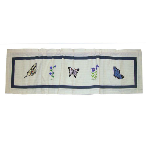 Patch Magic Butterfly Kisses 54'' Curtain Valance