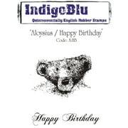"IndigoBlu Cling Mounted Stamp 5'X7""-Aloysius/Happy Birthday"