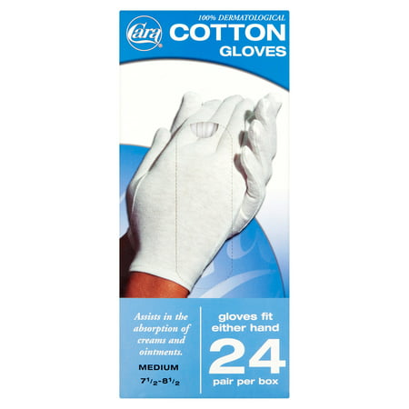 - Cara Disposable Cotton Therapy Gloves, 24 Pair - Medium