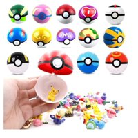 9PCS Pokeball Cosplay Pop-up and 24PCS Mini Figures! Master Great Ultra GS Poke BALL Toy!
