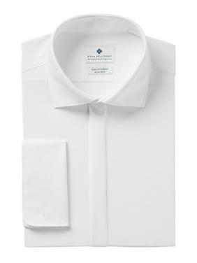 Mens Slim Fit Stretch Dress Shirt 16 1/2