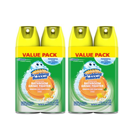Citrus Magic Household Cleaners ((2 pack) Scrubbing Bubbles Bathroom Grime Fighter Aerosol, Citrus, 20 Ounces, 2)