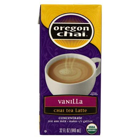Oregon Chai® Concentrate, Vanilla, Organic, Non-GMO Verified, 32 Fl Oz