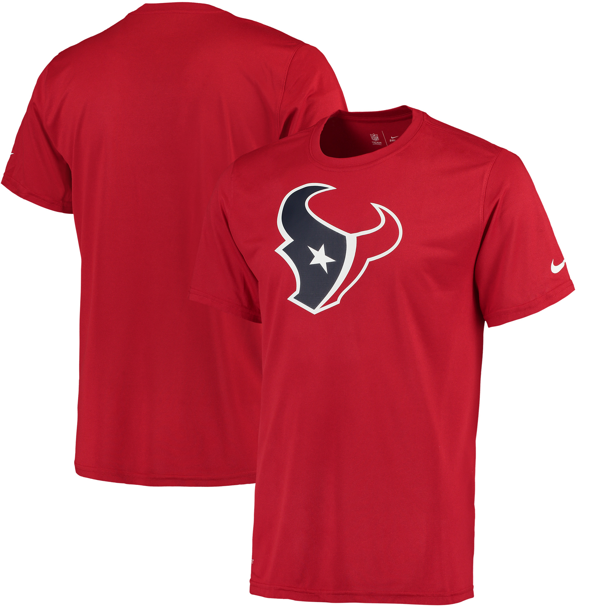 Men's Nike Red Houston Texans Legend Logo Essential 3 Performance T-Shirt