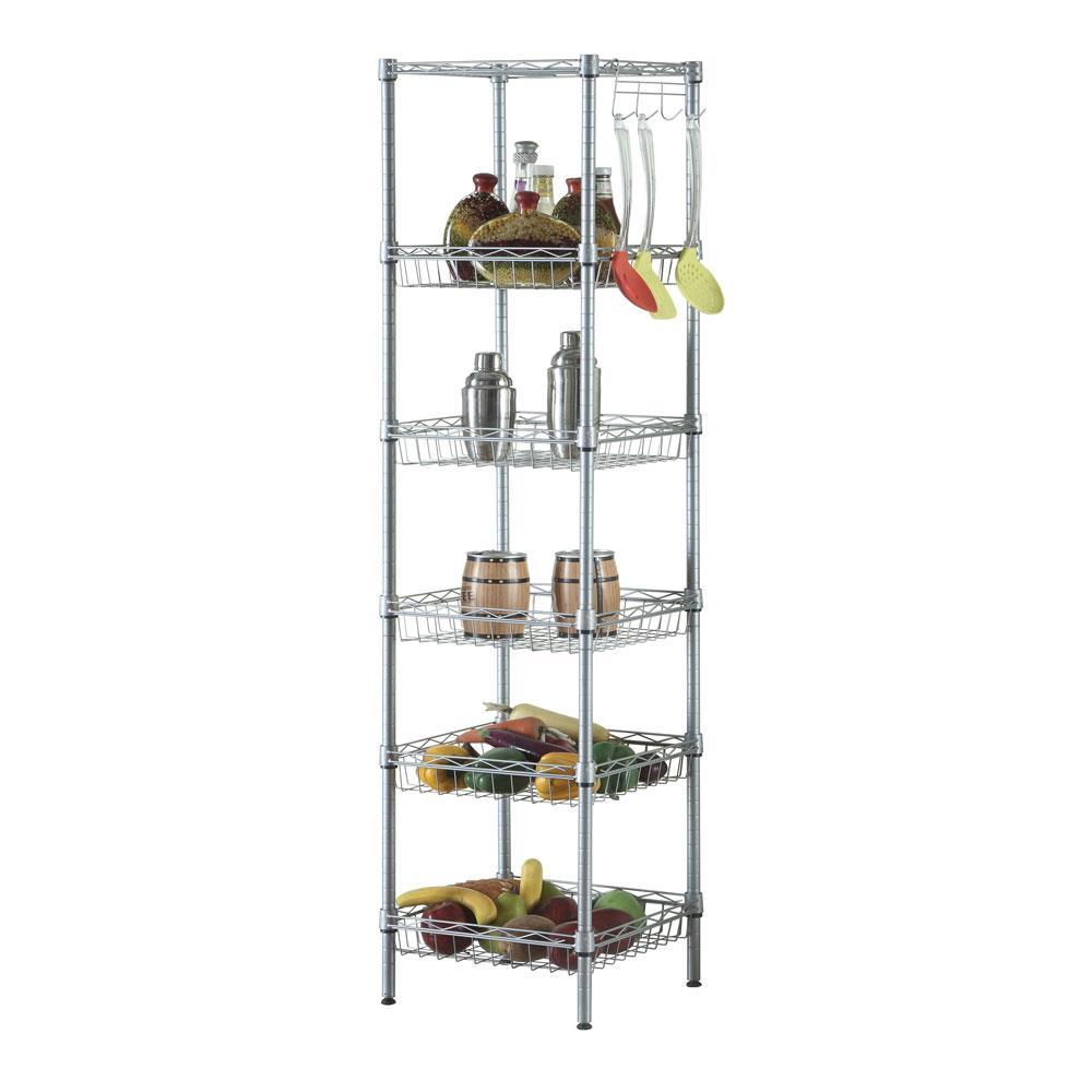 Ktaxon 6 Tier Wire Storage Shelving Rack For Garage