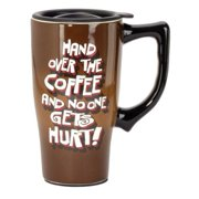 Spoontiques Hand Over Coffee Travel Mug, Brown