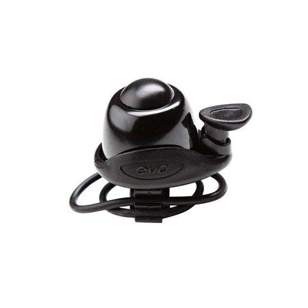 Bicycle Ringer - Evo Ringer Fast-Mount DLX Bicycle Bell - N+1-B432AP BLACK