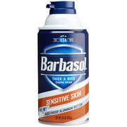 Barbasol Sensitive Skin Thick & Rich Shaving Cream for Men, 10 Oz
