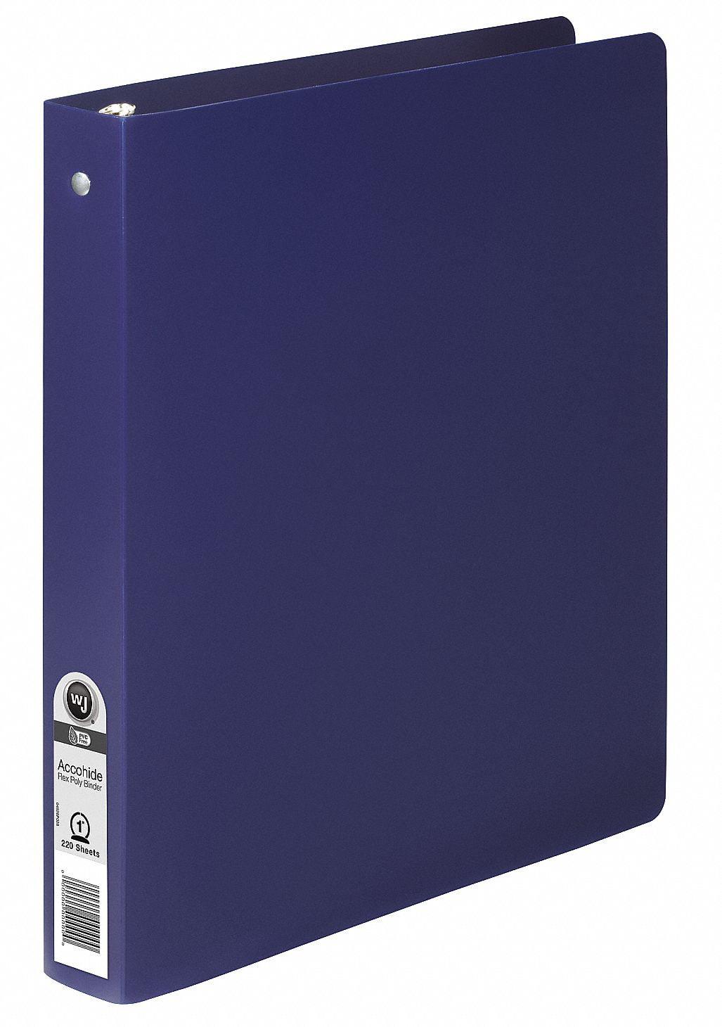 """Blue 1"""" 3-Ring Binder, 8-1 2"""" x 11"""" SHeet Size, Polypropylene, 175 SHeet Capacity Binders by"""