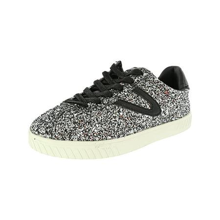 Tretorn Women's Camden 5 Glitter Ankle-High Fashion Sneaker - 5.5M - Silver Multi / Black /