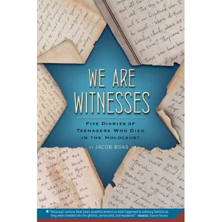 We Are Witnesses  Five Diaries Of Teenagers Who Died In The Holocaust