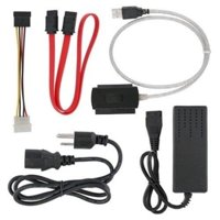 EpicDealz High Quality USB 2.0 to External IDE SATA Converter Cable HDD Kit with AC Power Adapter