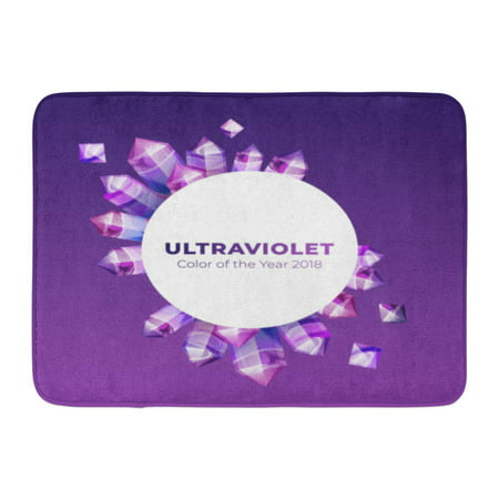 GODPOK Ultraviolet Amethyst Gemstones of Ultra Violet Gems on Gradient Boho Magic Crystals in Purple Color The Rug Doormat Bath Mat 23.6x15.7 (Mats Jonasson Crystal)