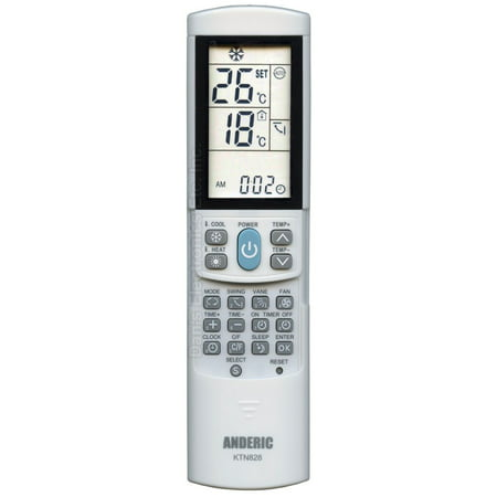 ANDERIC KTN828 Universal (p/n: KTN828) Air Conditioner Unit Remote Control (Universal Air Conditioner Remote Control Codes List)