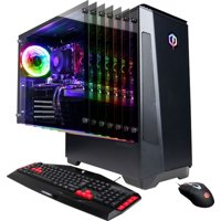 CyberPowerPC - Gamer Master Gaming Desktop - AMD Ryzen 3 2300X - 8GB Memory - AMD Radeon RX 570 - 1TB HDD + 240GB SSD - Black