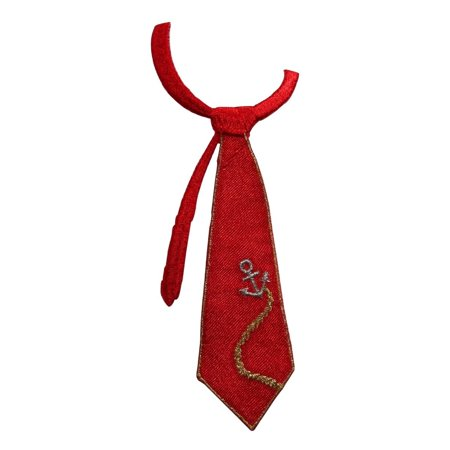 ID 8426 Nautical Neck Tie Patch Captain Suit Fashion Embroidered IronOn Applique - Nautical Tie