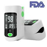 Cooligg Finger Pulse Oximeter Heart Rate monitor Blood Oxygen Sensor Meter LED Display White