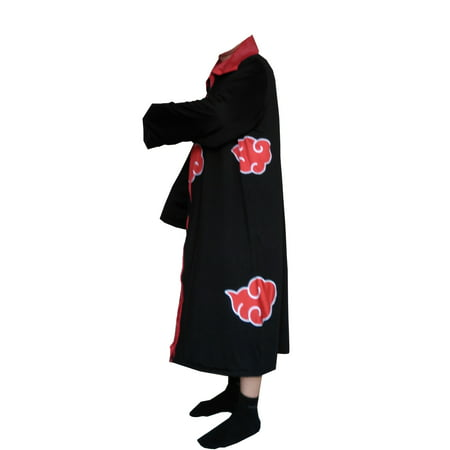Naruto Cloak Adult Costume Anime Akatsuki Robe Sizes Cosplay Ninja
