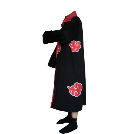 Anime Cosplay Costumes For Men (Naruto Cloak Adult Costume Anime Akatsuki Robe Sizes Cosplay Ninja)