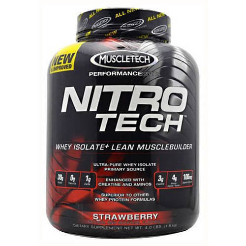 MuscleTech Nitro-Tech, Strawberry, 4 LB