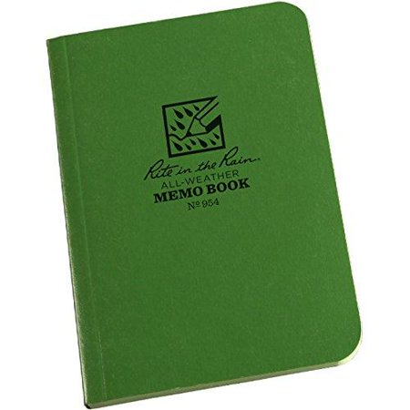 "Rite in the Rain All-Weather Soft Cover Pocket Notebook, 3 1/2"" x 5"", Green Cover, Universal Pattern (No. 954) - image 1 de 1"