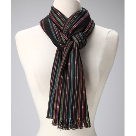- Amtal Women Multi Color Stripes Design Pashmina Shawl Oblong Casual Soft Scarf