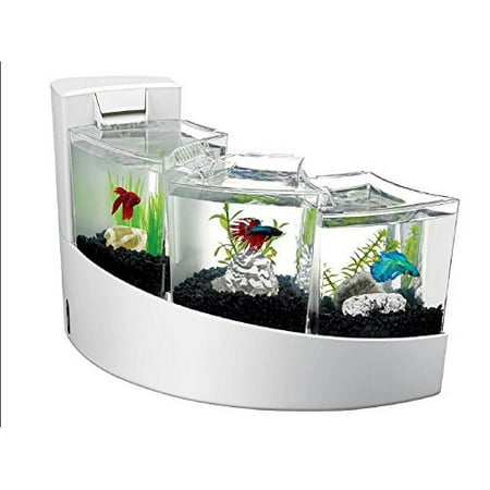 Aqueon betta falls aquarium starter kit 2 gal white for Betta fish tanks walmart