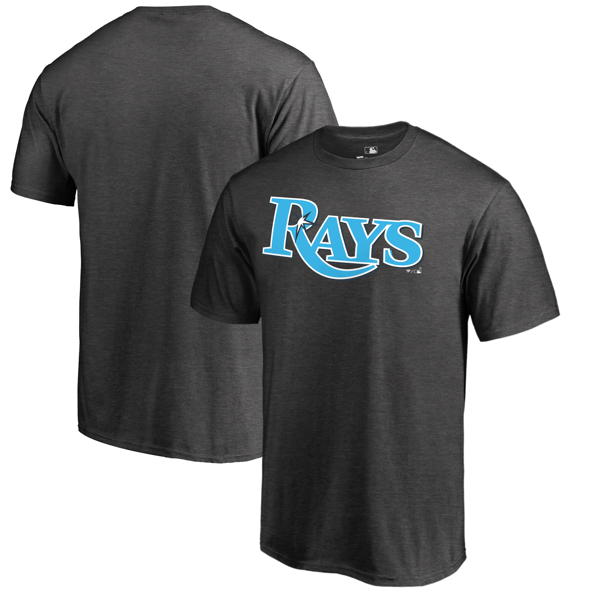 Tampa Bay Rays Fanatics Branded 2018 Father's Day Blue Wordmark T-Shirt - Heather Gray